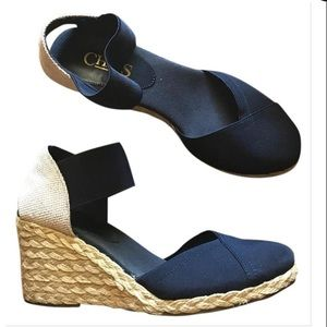 Chaps navy wedges